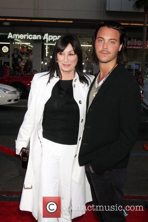 Anjelica Huston and Wolverine 2