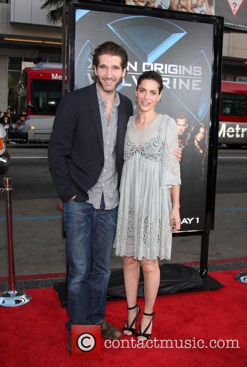 David Benioff & wife Amanda Peet X-Men Origins:...