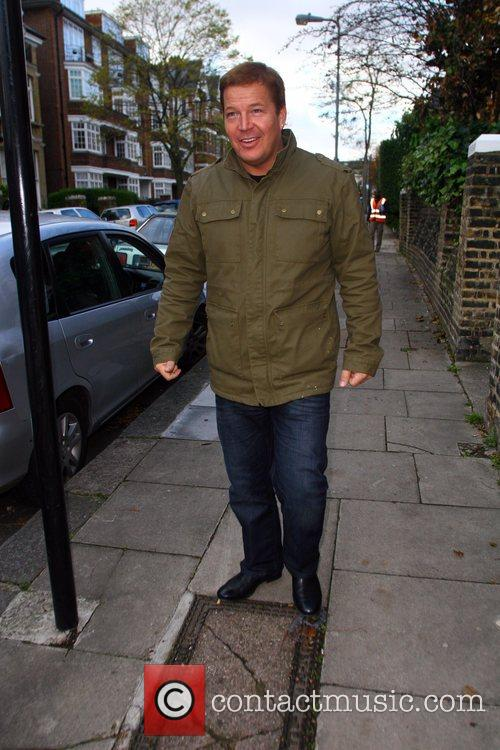 Daniel Evans seen outside the X Factor House....
