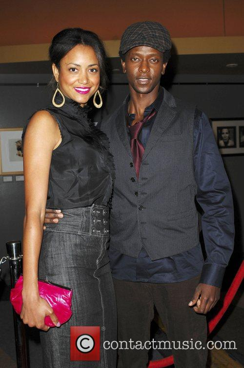 Edi Gathegi and Guest The Premiere of 'The...