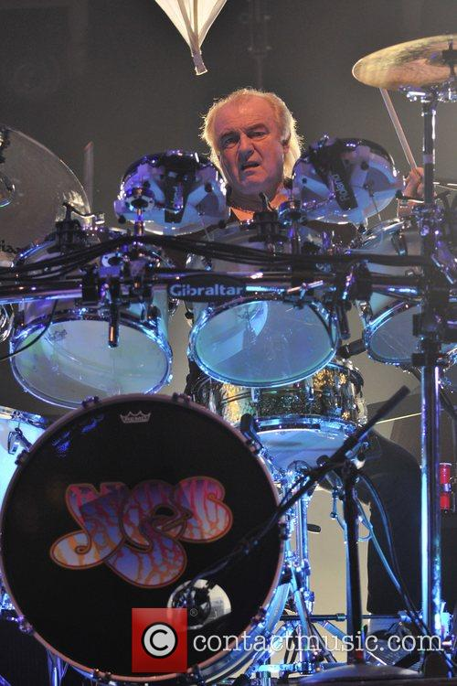 Alan White of the band Yes performs at...
