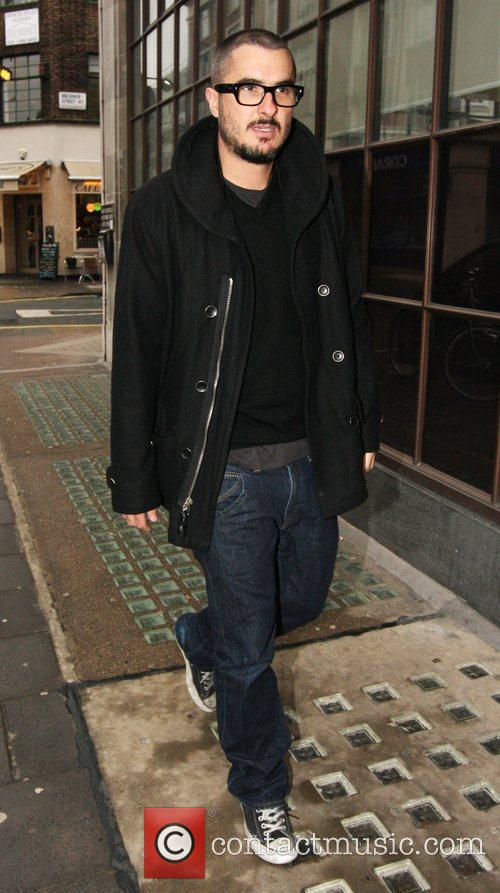 Zane Lowe outside the BBC Radio One studios.