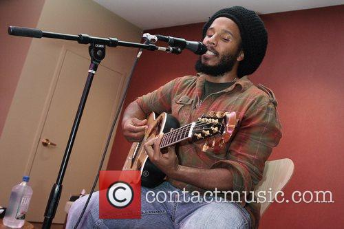 Ziggy Marley performs at the CD release party...