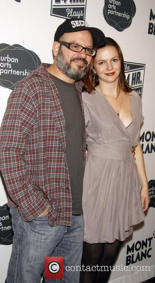 Amber Tamblyn and David Cross 1