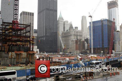 Atmosphere A general view of Ground Zero during...