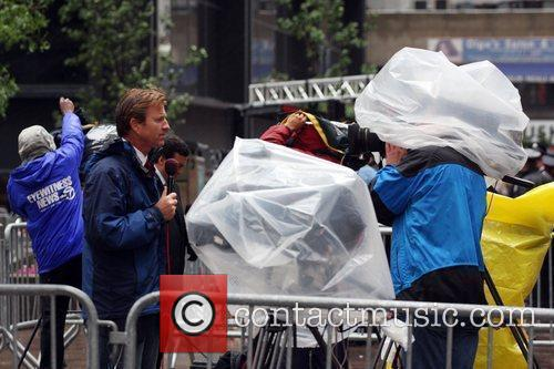 Atmosphere Media crews struggle to report in the...