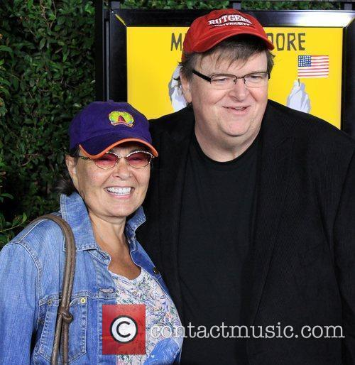 Roseanne Barr and Michael Moore 5