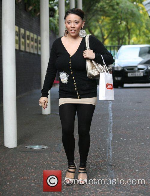 Mutya Buena outside the 'GMTV' studios London, England