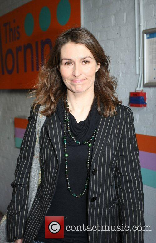 Helen Baxendale outside the ITV television studios London,...