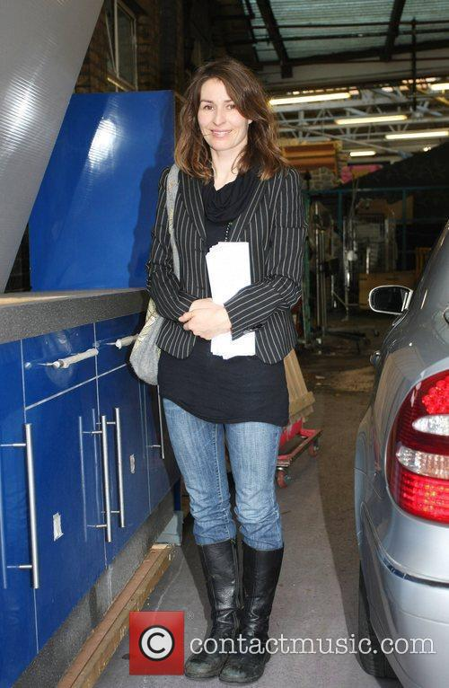 Actress Helen Baxendale arriving at the London Studios...