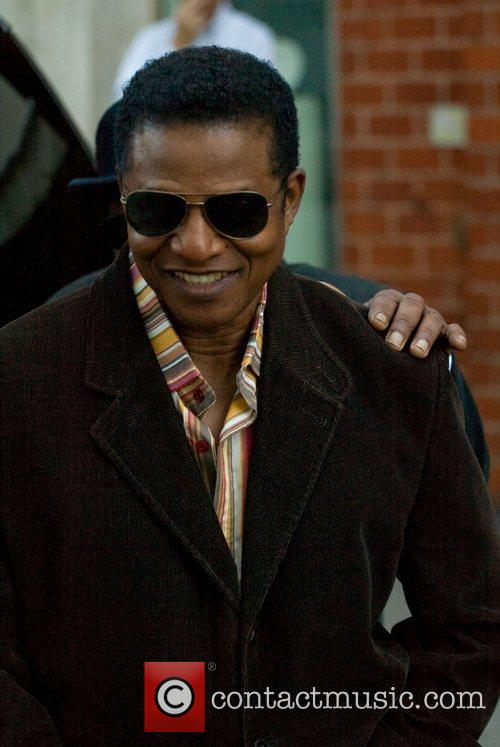 Jackie Jackson leaving Mr. Chow in Beverly Hills...