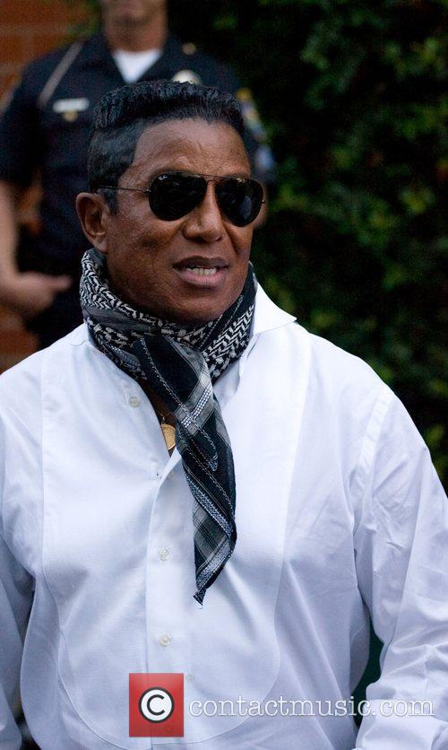 Jermaine Jackson leaving Mr. Chow in Beverly Hills...
