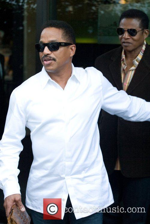 Marlon Jackson & Jermaine Jackson leaving Mr. Chow...