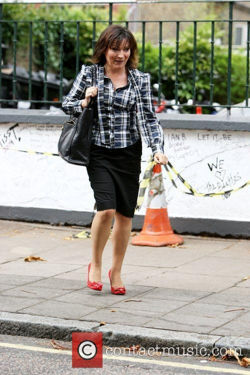 Lorraine Kelly from GMTV leaving the Abbey Road...