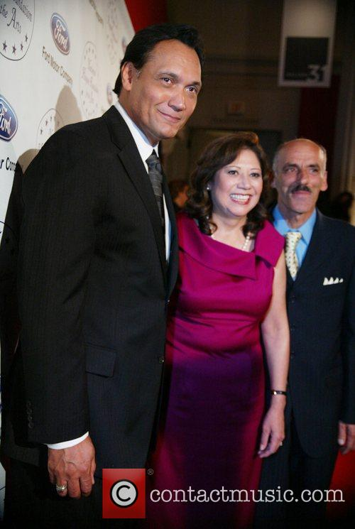 Jimmy Smits, Hilda Solis and Her Husband 3