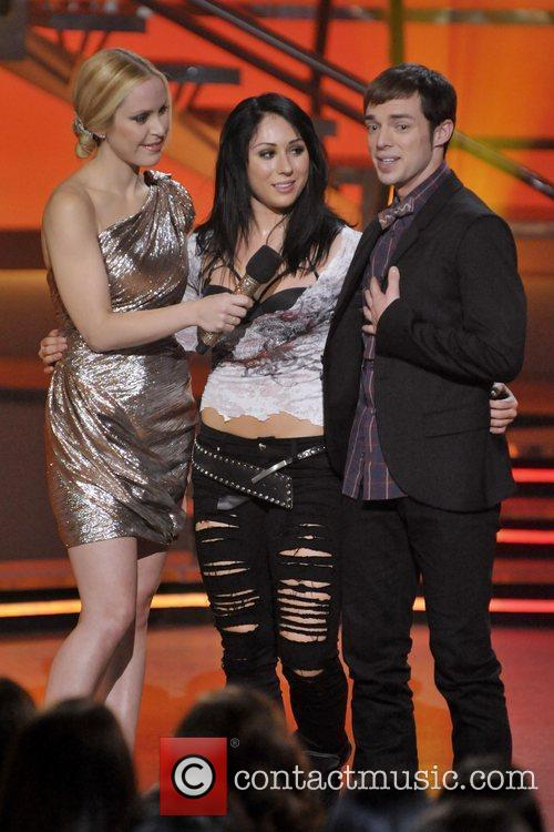 Host Leah Miller (L), Jayme Rae Dailey, and...