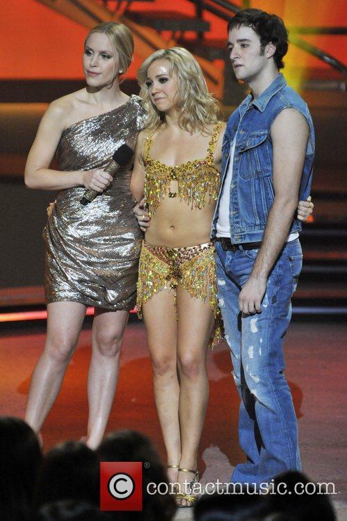 Host Leah Miller, Tara-Jean Popowich, and Vincent Desjardins...