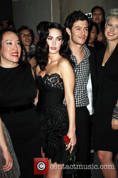 Actress Megan Fox and Adam Brody arriving at...