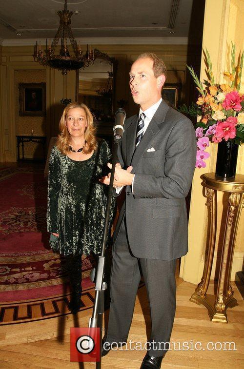 HRH Prince Edward introduces Jill Samuals at the...