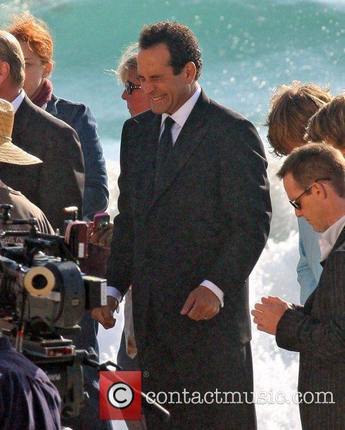 Filming a wedding scene on Malibu beach