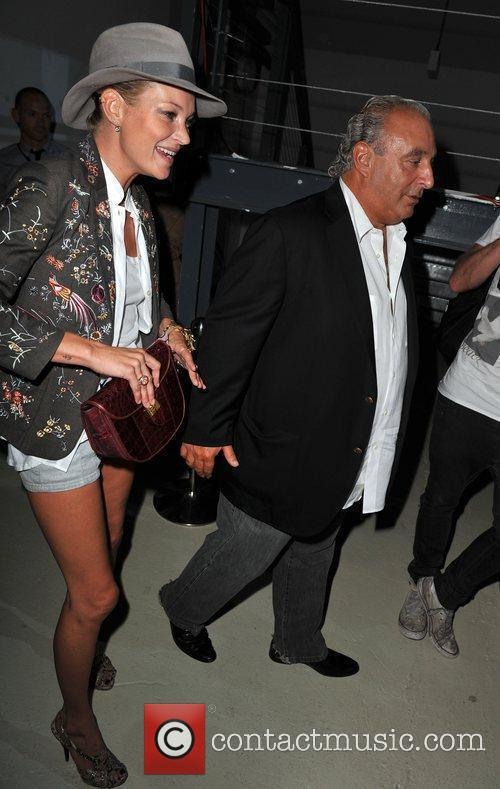 Kate Moss and Philip Green LFW: Topshop-Unique s/s...