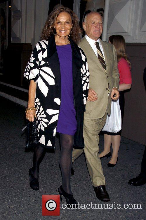 Diane von Furstenberg and Barry Diller Opening night...
