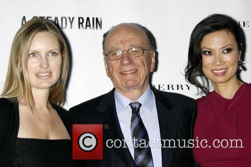 Guest, Rupert Murdoch and Guest Opening night of...