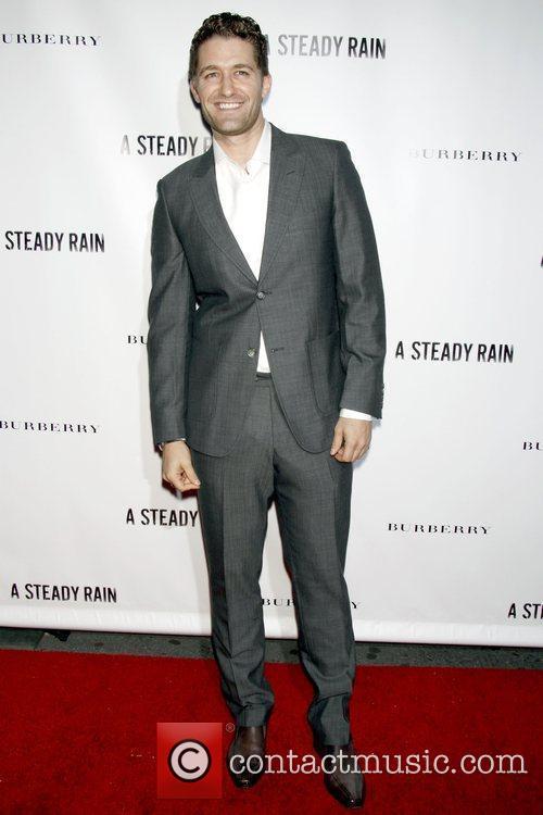 Matthew Morrison Opening night of 'A Steady Rain'...