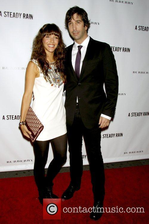 Zoe Buckman and David Schwimmer Opening night of...