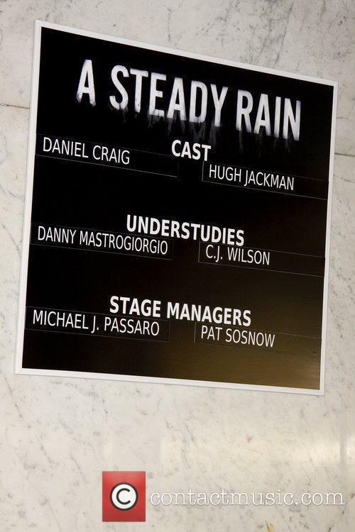 Atmosphere Opening night of 'A Steady Rain' on...