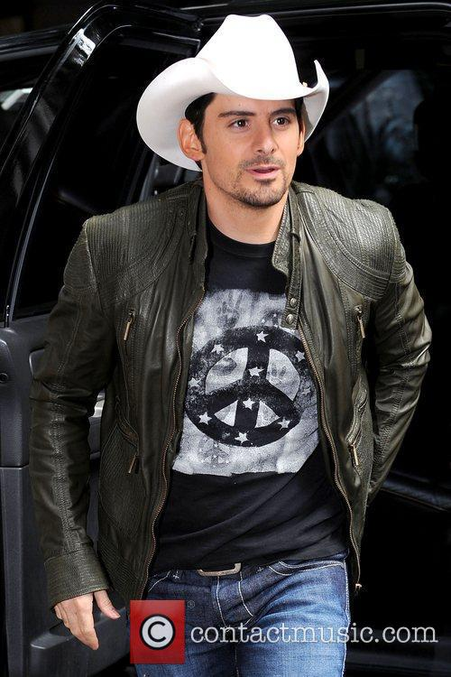 Brad Paisley outside ABC Studios for an appearance...