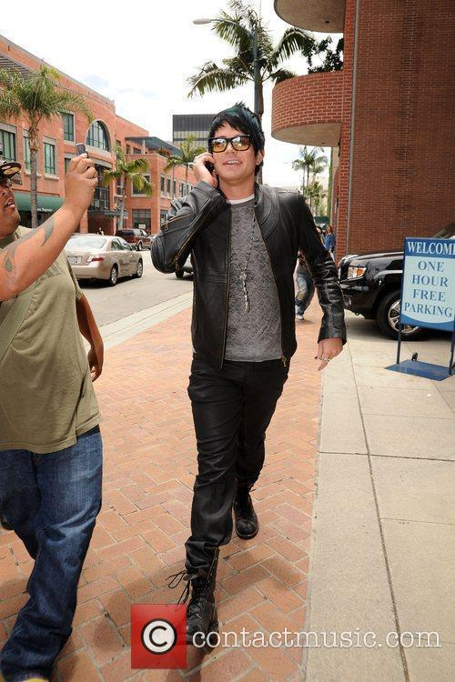 Adam Lambert arriving at a medical centre in...