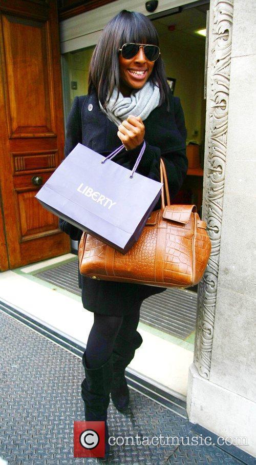Alexadra Burke leaving Radio One London, England