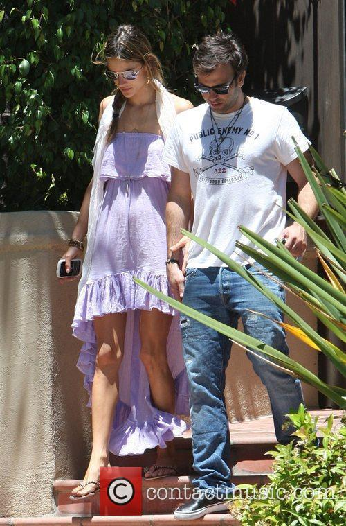 Brazilian supermodel Alessandra Ambrosio and her fiance Jamie...