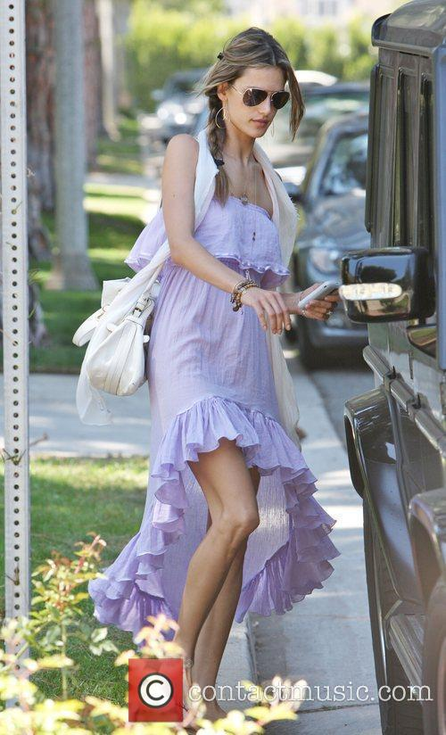 Brazilian supermodel Alessandra Ambrosio leaving a friends house...