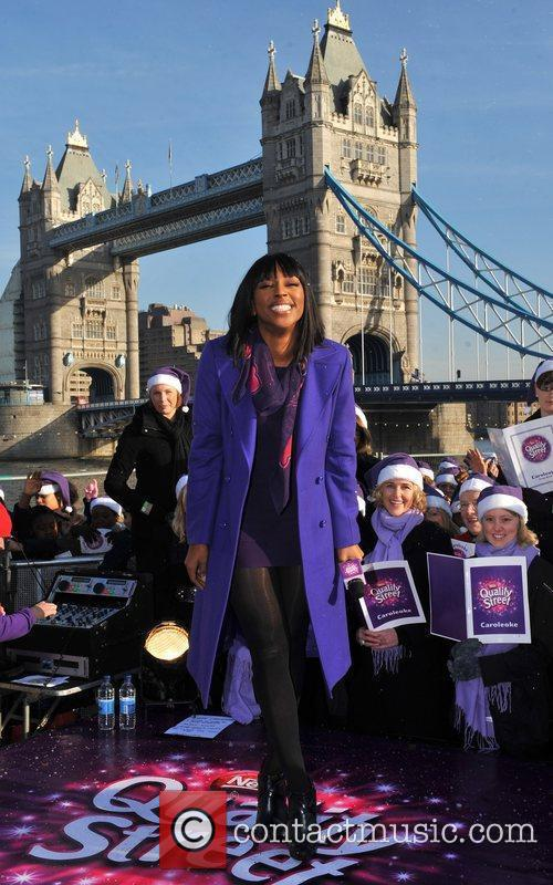 Leads Londoners in a sing along of top...
