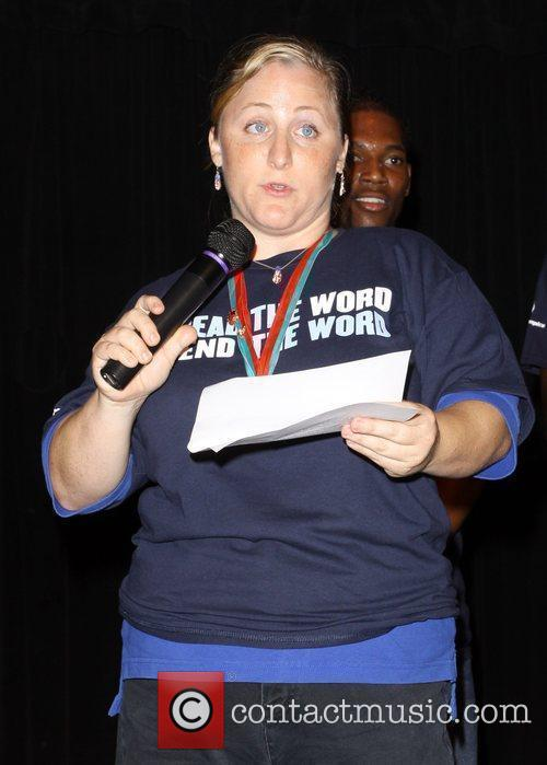 Special Olympic Champion Deborah 'Spread the word to...