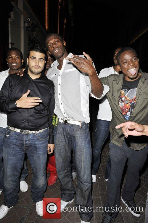 Usain Bolt Leaving Alto Nightclub With Friends 2