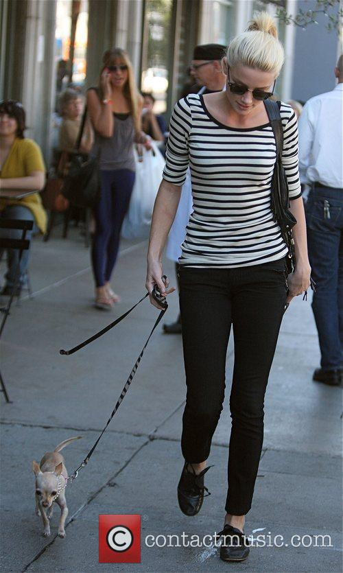 Amber Heard  heading for lunch to meet...
