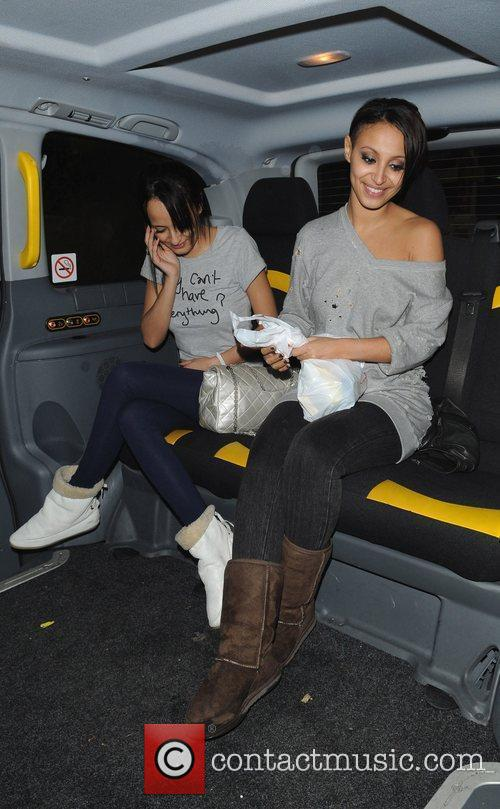 Sugababe Amelle Berrabah takes a taxi home after...
