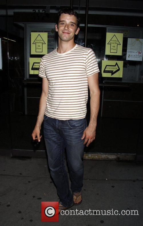 Michael Urie backstage after performing in 'The Temperamentals'...