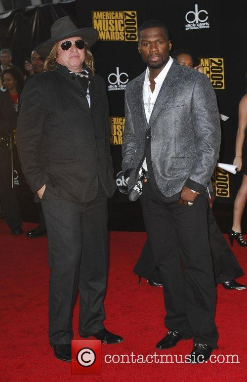 Val Kilmer and 50 Cent 2009 American Music...