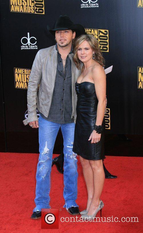 Jason Aldean and wife Jessica Aldean 2009 American...