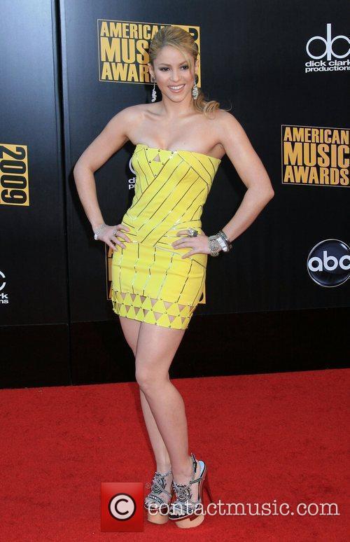 Shakira 2009 American Music Awards - Arrivals held...