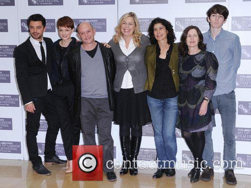 Dominic Cooper, Carey Mulligan, Nick Hornby, Lone Scherfig, Amanda Posey, Finola Dwyer and Matthew Beard