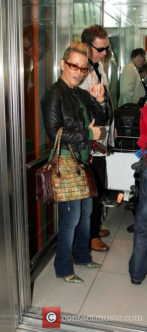 Anastacia arriving at Heathrow airport London, England