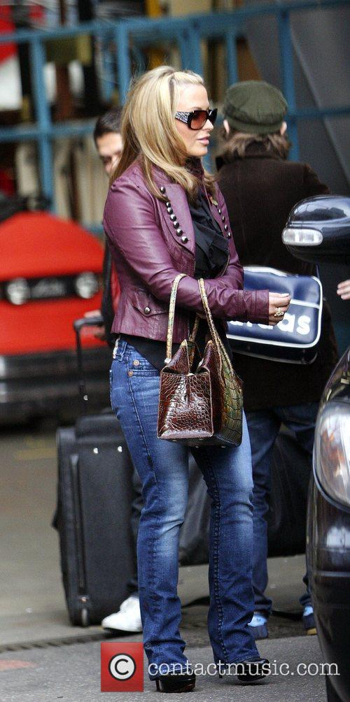 Anastacia outside the 'This Morning' television studios London,...