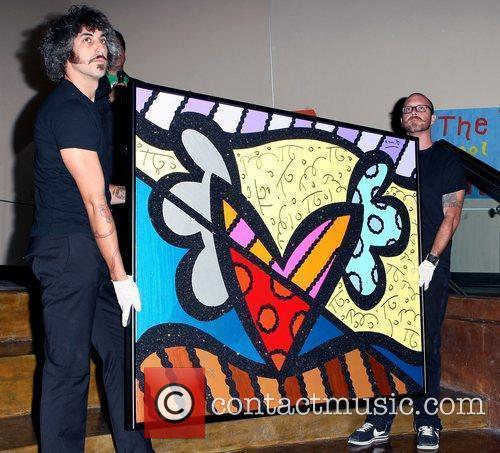 A Romero Britto art piece The Andre Agassi...