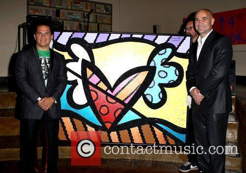 Romero Britto with Andre Agassi The Andre Agassi...