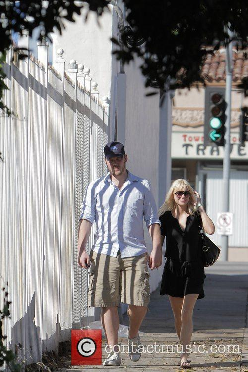 Anna Faris, husband Chris Pratt leaving The Cat and Fiddle in Hollywood after eating lunch. 18